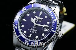 9204obinvicta Pro Diver Coin Edge Lunette Cadran Bleu Bracelet En Acier Inoxydable Montre