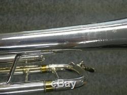 Acb Blowout! Rare Bach Stradivarius 72/43 Bb Trompette En Plaqué Argent