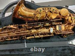 Allora Chicago Jazz Alto Saxophone Niveau 3 Aaas-954 Laque En Or Foncé