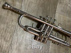 Argent Plaqué Bach Stradivarius 37 Professional Trompette W Cas