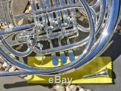 Argent Plaqué Bb / F Double Sterling Françaises Horn Pro Qualité Marque Nouveau