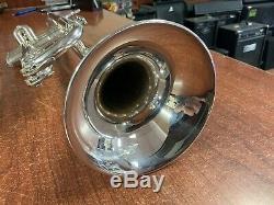 Argent Plaqué Yamaha Xeno Ytr-8335 Professional Trompette W Cas