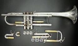 Argent Plaqué Yamaha Xeno Ytr-8335 Trompette Professional W Case Original Yamaha