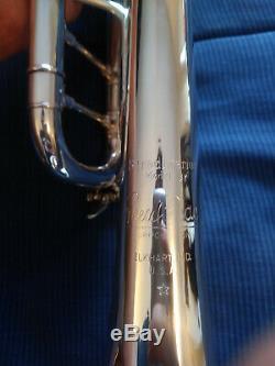 Au Début Elkhart Bach Stradivarius 37 Trompette D'argent Avec Étui
