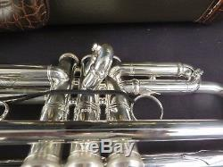 Bach Artisan Ab190s Trompette En Si Bémol, Argent, Dans Une Boîte Avec Des Étiquettes