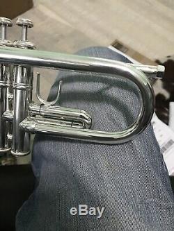 Bach Modèle 37 Stradivarius Bb Trompette En Plaqué Argent Impeccable