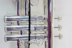 Bach Modèle Ab190s Artisan Stradivarius Bb Trompette En Plaqué Argent Impeccable