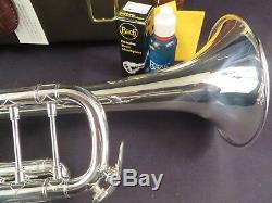 Bach Stradivarius 180s37 Bb Trompette, Argent, Monnaie Étiquettes Withh Et Boîte # Ptr1nb