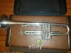 Bach Stradivarius 180s37 Silver Bb Trompette, Trigger, F-stop Rod, Très Agréable