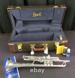 Bach Stradivarius 180s43 Bb Trompette, Argent, Menthe Avec H Tags Et Boîte #ptr13