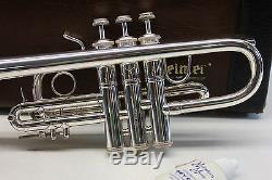 Bach Stradivarius 304 Eb (plat) Pro Trompette Professionnelle Cile Cas Argent Mint