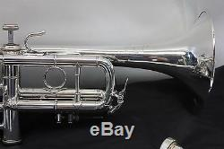 Bach Stradivarius 304 Eb (plat) Pro Trompette Professionnelle Cile Cas Argent Nice