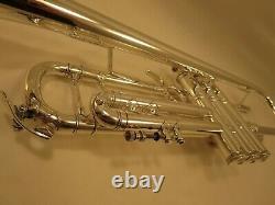 Bach Stradivarius 43 Bb Trumpet Silver Professionally Serviced! 465237 ML 1996