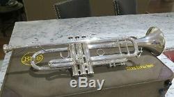 Bach Stradivarius Argent Bb Trompette Modèle 37 Lourd Argent Vintage Professionnel