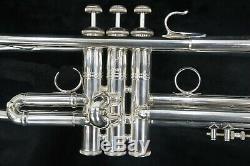 Bach Stradivarius Artisan Ab190s Argent Plaqué Trompette Sib & New 3517c Embouchure