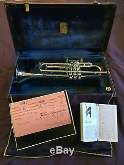 Bach Stradivarius Bb Trumpet 1938 New York, Ny Pro Corne Pre Mount Vernon