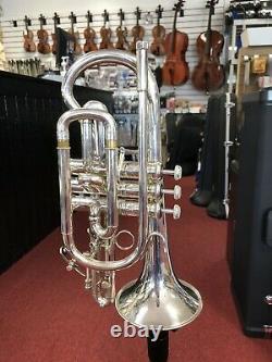 Bach Stradivarius Modèle 184s Cornet D'argent Avec Porte-parole Et Boîtier Hardshell