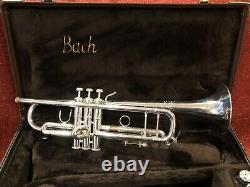 Bach Stradivarius Modèle 37 Trompette Plaque D'argent Avec Boîtier