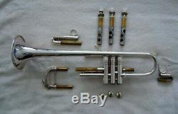 Bach Stradivarius Professional C Trompette D'argent Plaque 229 De Bell 25a Branche D'embouchure