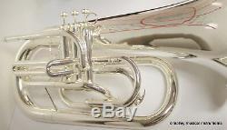 Bb Argent Double Euphonium Fanfare Contreventement Son Énorme Vente Groupe Spécial École