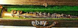 Beautiful Vintage 1914 Frank Holton Bb Soprano Saxophone Orig. Placage D'argent