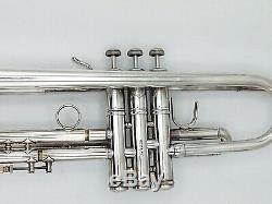 Belle 1994 Argent Plaqué Bach Stradivarius 72 Professional Trompette / Original Cas