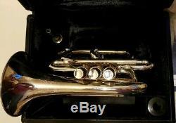 Belle Benge Pocket Trompette En Si Bémol Avec Son Originale Benge Embouchure & Case