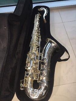 Belle Lourd Argent Plaqué Rampone Cazzani R1 Jazz Saxophone Ténor Excellent