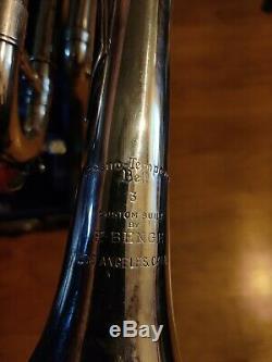 Benge L. A. Trompette De Bell # 3 Plaque Argent