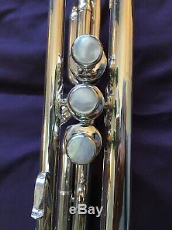 Benge Trompette Chicago, Illinois, Avec Étui Et Llewelyn Embouchure Corne Pro