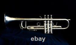 Benge Trumpet 3 Resno Tempered Bell Mlp. 462 Bore Argent Plaqué Avec Boîtier