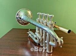 Benge USA Piccolo Trompette Sib / A - Cloche Distancée - Trempée - Excellent Etat