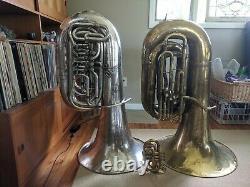 Boland & Fuchs Rotatif Tuba Bb Tôt 1900 Pochoir