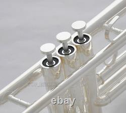 Brand New Professional Silver Trumpet New Design Corne Valve Monel Avec Boîtier