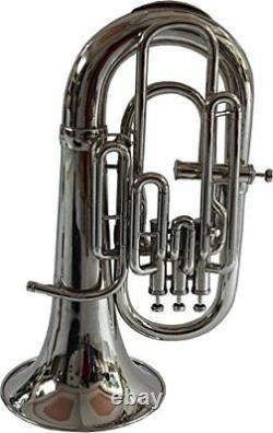 Brand New Silver Bb/f 4 Valve Euphonium+free Hard Cas+mouthpiece