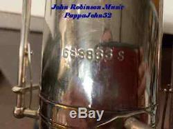 Buescher 400 Mib Bari Sax Saxophone Baryton Restoré Orig Finition Argent 1976