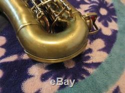 Buescher 400 Top Hat & Canne Argent Saxophone Alto Soulevé Logo Et Anneau Cloche