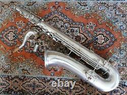 Buescher Argent Plaqué Ténor Véritable Saxophone Saxophone Avant F Juste Remis À Neuf
