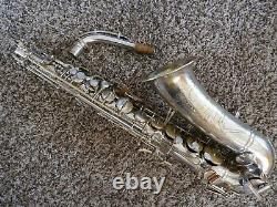Buescher Aristocrat Series II Silver Plaqué Big B Alto Saxophone Norton Springs