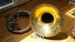 Buescher B-flat Sousaphone 1929 Argent / Or Avec Etui (excellent Etat)