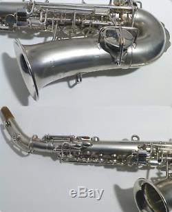Buescher Courbe Soprano Saxophone, En Argent, Vintage, Low Pitch, Lecture Ready
