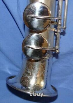 Buescher Tipped Bell Bb Silver Placé Soprano Sax Very Rare