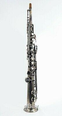 Buescher Vintage Vrai Tone Droite Saxophone Soprano Avec Étui S / N # 229347