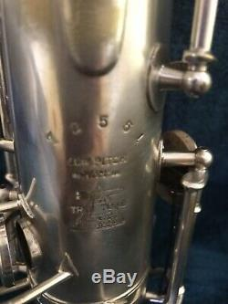 Buescher Vrai Tone Lp C Melody Sax. # 1920 72551year Bien Propre, Sans Ternissement