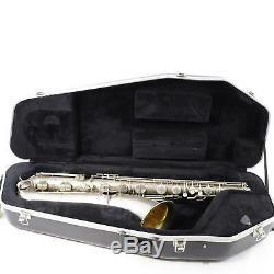 C. G. Conn Chu Berry Saxophone Baryton Sn 189572 Plaque Argent Excellent