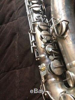 C. G. Conn Tenor Sax 1927 Plaqué Argent
