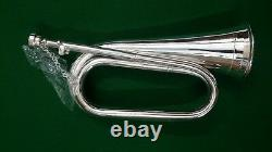 CC Professional British Army Bb Bugle Silver Plaqué Tune Able/bb Bugle Silver