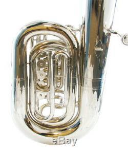 CC Tuba-large Cloche 5 Valve Rotary C Tuba Étudiant Avancée Argent Plaqué Ou Pro