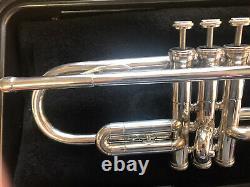 Callet New York Silver Plate Bb Trompette, Étui, Embout Buccal, Immaculé! Vg++