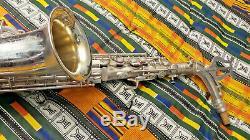 Cg Conn Selver Plaqué Chu Berry Alto Saxophone